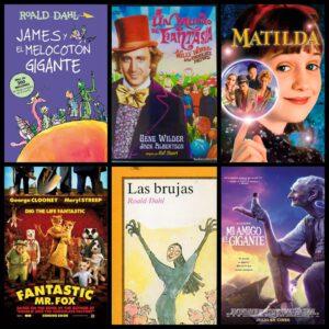 Roal Dahl James y el melocotón gigante Charly y la fábrica de chocolate Matilda Fantástico Mr. Fox Las Brujas El gigante bonachón