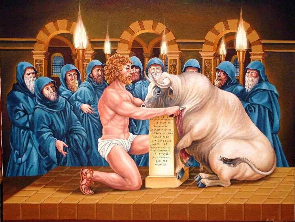 sacrificio toros culto a poseidón