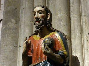 Imagen románica de El Salvador en la catedral de Oviedo