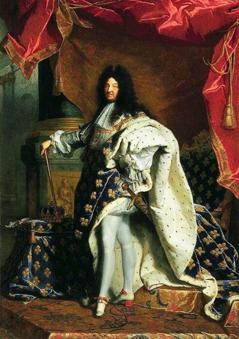 Luis XIV, el Rey Sol, pintado por H. Rigaud.