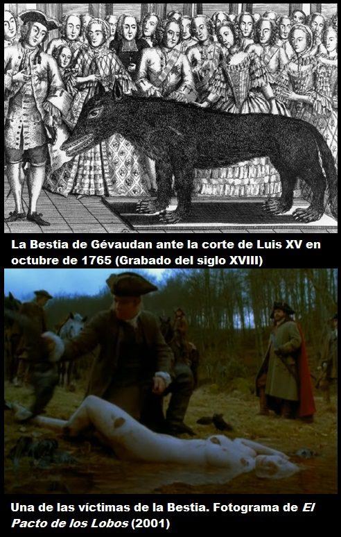 el lobo de chazes corte luis XV bestia de gévaudan película víctimas