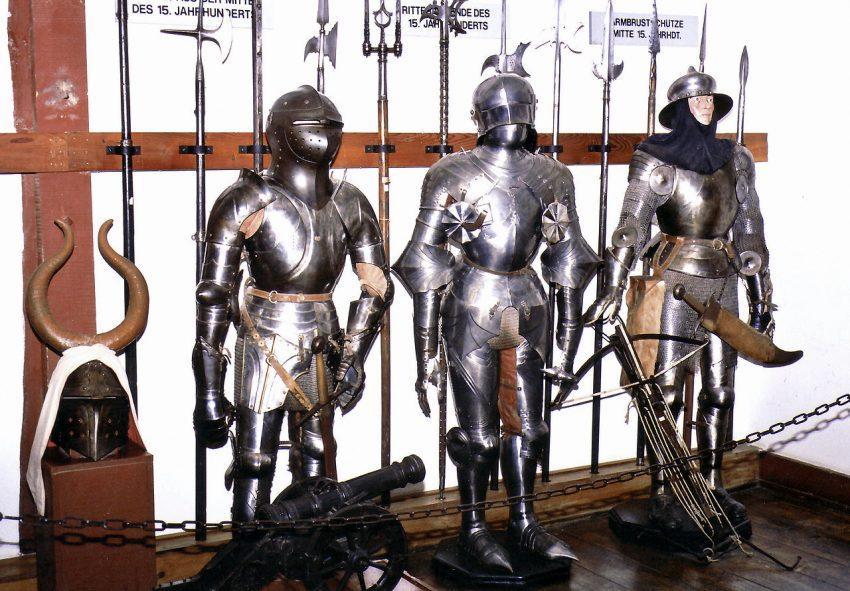 armadura medieval de caballero