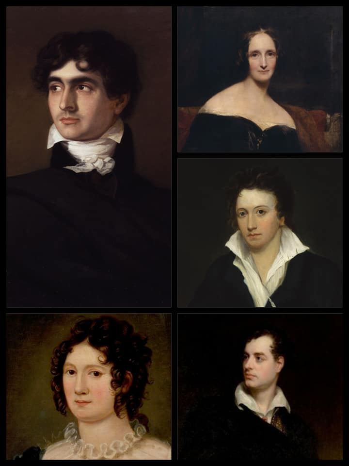Polidori Mary y Percy Shelley Lord Byron Claire Claremont
