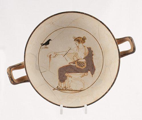 curiosidades de los dioses griegos - el kylix de Apolo