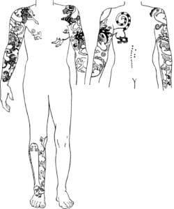 Tatuajes del hombre de la tumba 2 de Pazyryk
