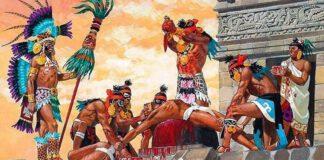 juego de pelota maya - Los zapotecos tienden a las víctimas sobre una losa, les rajan la carne y les arrancan el corazón.