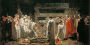 mártires en las catacumbas cristianas de Roma Eugène Lenepveu