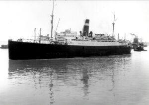 El SS. Athenia hundido por un submarino alemán en septiembre de 1939