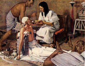 Medicina y magia en el Antiguo Egipto, obra de Robert Alan Thom