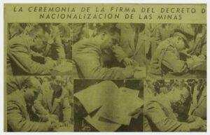 Nacionalización de las Minas de Fernando Valdivia Delgado