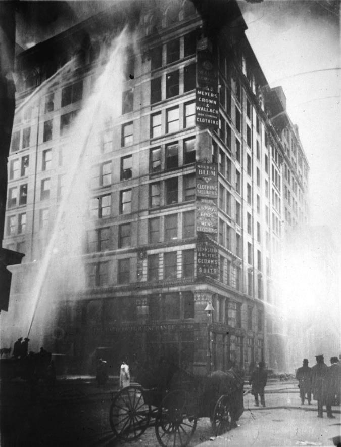 Incendio en la fábrica Triangle Shirtwaist de Nueva York 8 de marzo Día Internacional de la Mujer