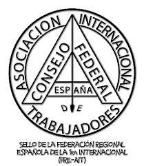 Emblema del Consejo Federal de España de la AIT. Fuente: veuobrera.org