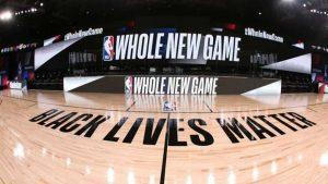 Imagen del parqué utilizado el pasado verano en la burbuja de Orlando organizada por la NBA