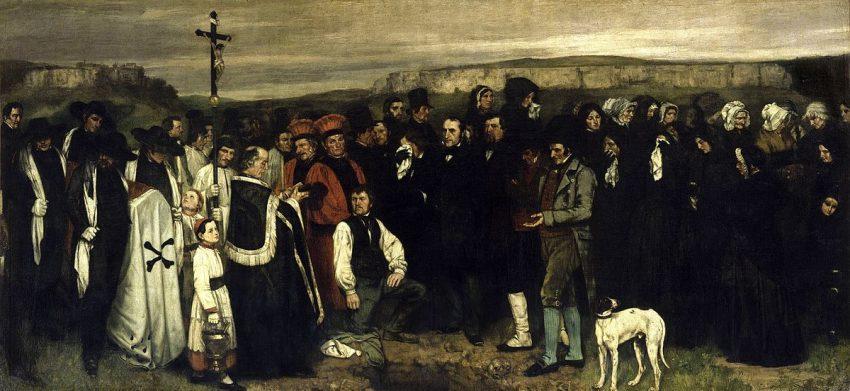 El entierro de Ornans, 1850, Gustave Courbet