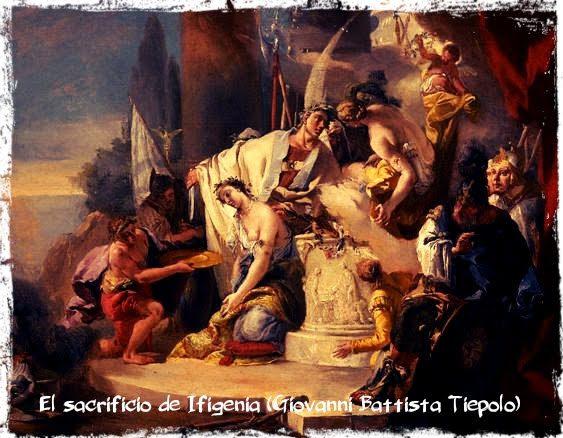 sacrificio de ifigenia en manos de agamenon mitologia griega