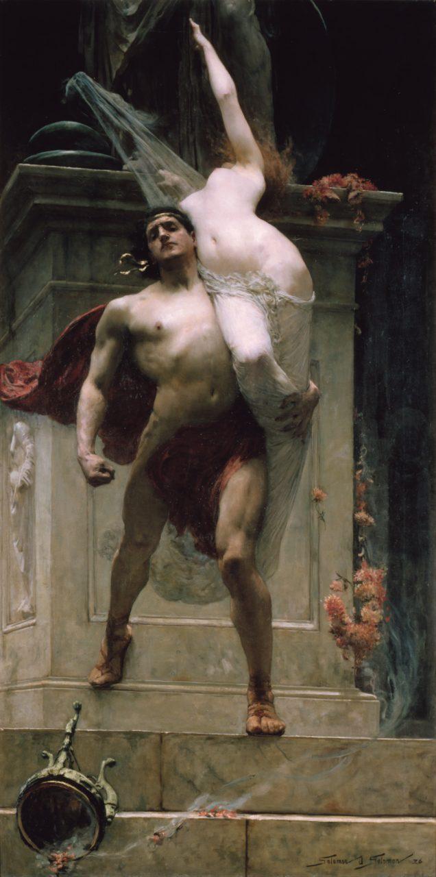 Áyax y Casandra Guerra de Troya saqueo