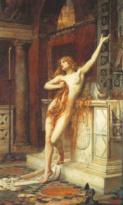 Charles William Mitchell Interpretación erotizada de Hipatia