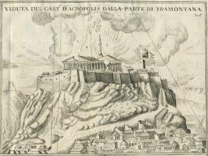 Destrucción del Partenón por las bombas venecianas
