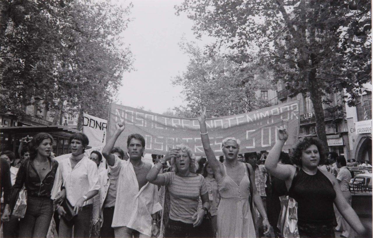 primera manifestación LGTB en España en las Ramblas