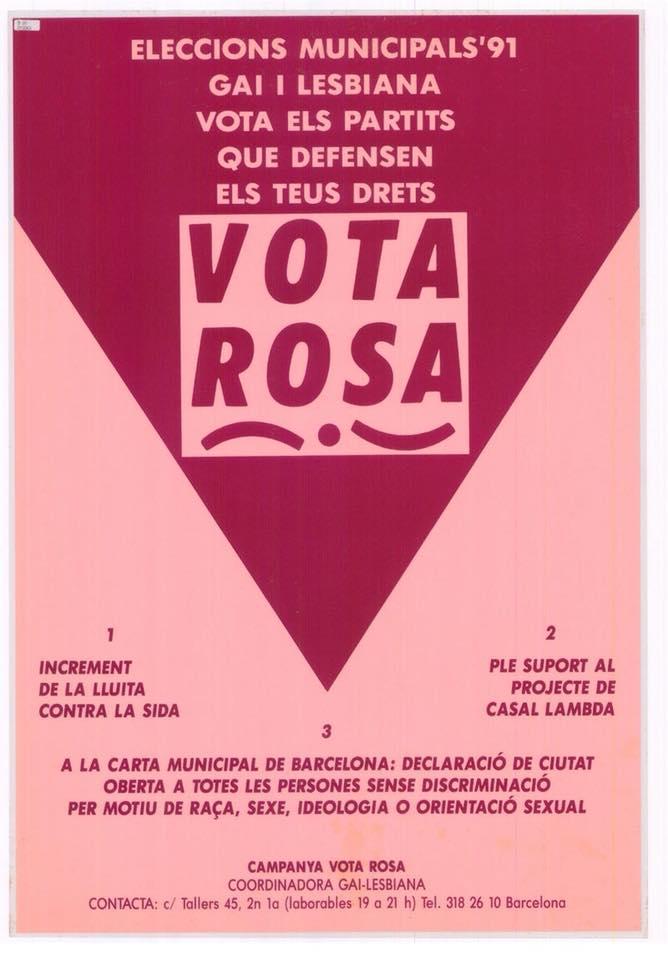 Campaña Vota Rosa movimiento LGTB en España