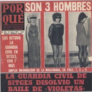 Detención de tres travestis en Sitges movimiento LGTB España