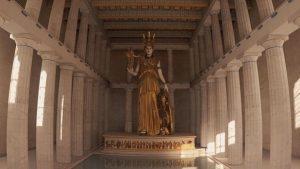 Reconstrucción del interior del Partenón
