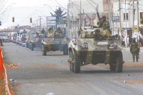 Ciudad Militarizada, guerra del Gas